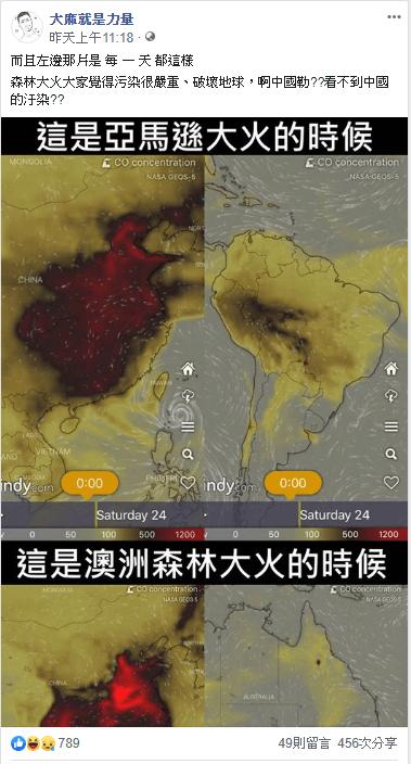 中國空氣污染大於澳洲森林大火專家意見
